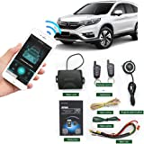 Remote Car Starter 2-Way Automatic Car Alarm System Phone APP Keyless Entry PKE Central Locking with Two 4-Button…