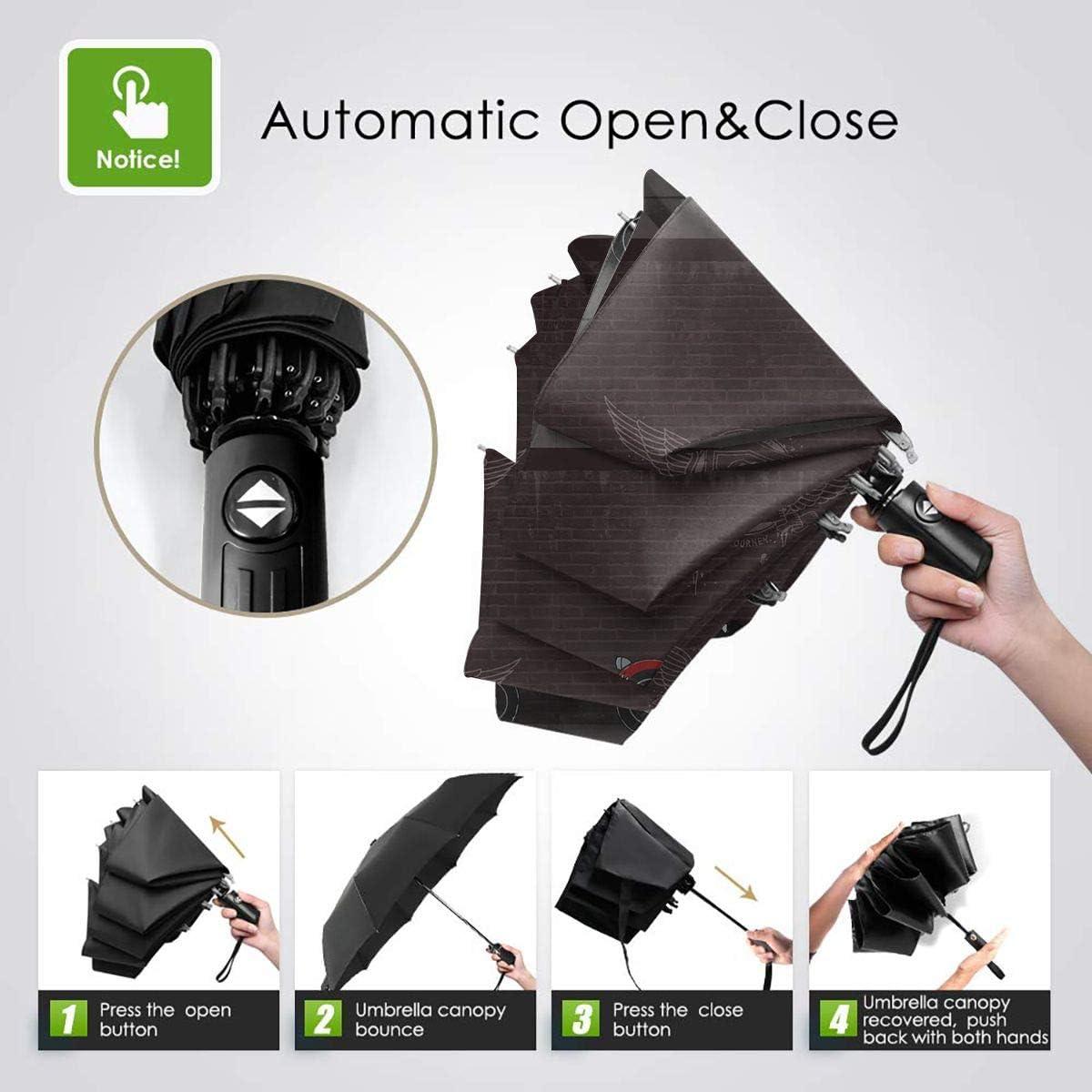 Windproof Travel Umbrella Cool Snoopy Compact Folding Umbrella Automatic Open//Close
