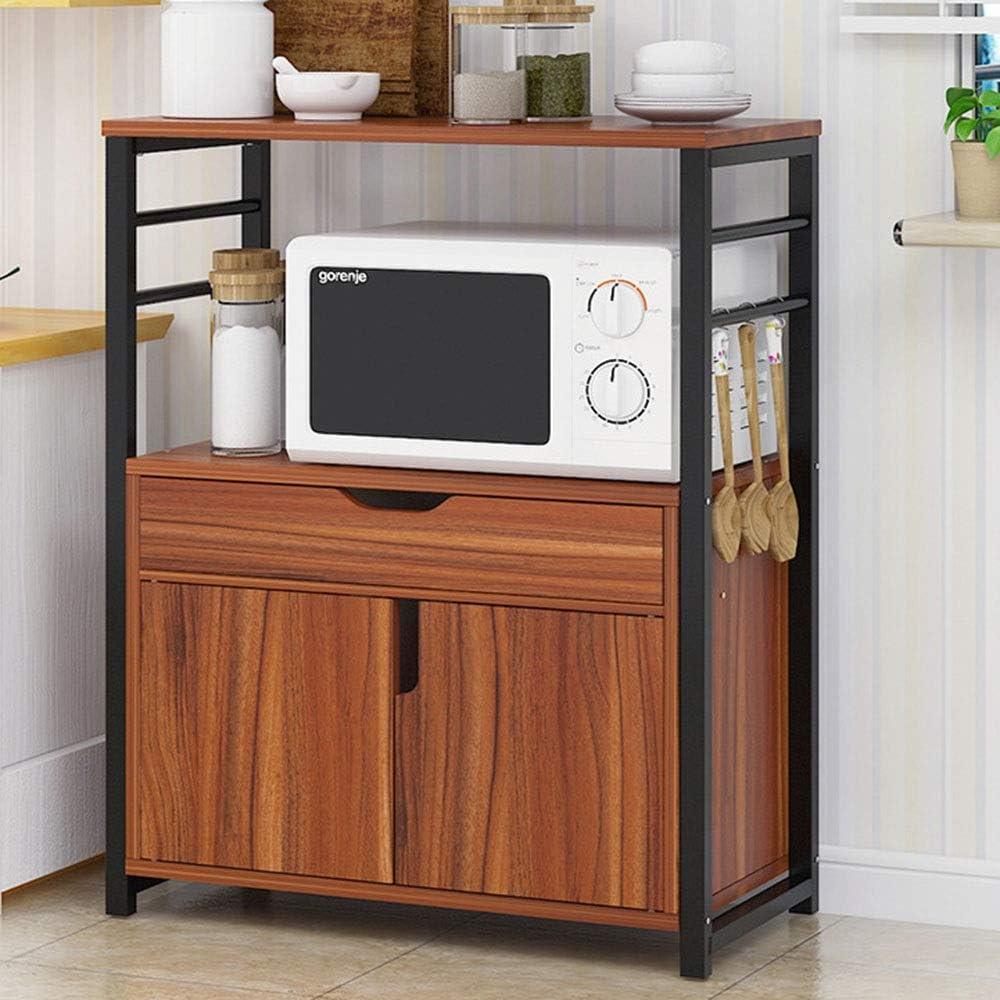 WUJIAN Estanterías y Almacenamiento 2-Tier de estanterías con cajones y Estante del Horno microondas Soporte de Muebles de Cocina Panadero para Oficina Baño Cocina Sala despensa