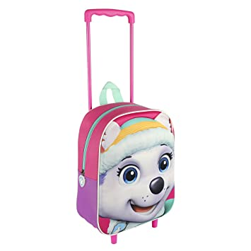 Paw Patrol 2100001632 Everest Travel Trolley with 31 cm 3D Junior Backpack