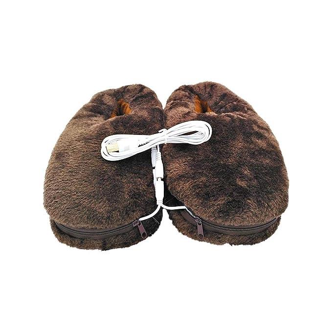 Oshide Zapatillas Térmicas Calientapiés Eléctrico 5V La Temperatura se Puede Personalizar de Acuerdo con los Requisitos, Longitud de la Suela: 30 cm / ...