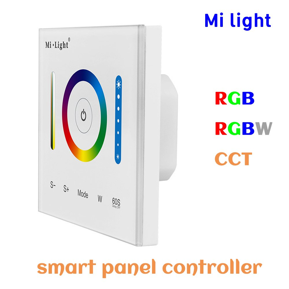 BSOD Wall Dimmer Switches Milight Smart LED Wall Panel Controller Dimmer Brightness Adjustable CCT Color Temperature RGB+RGBW+CCT Controller (RGB)