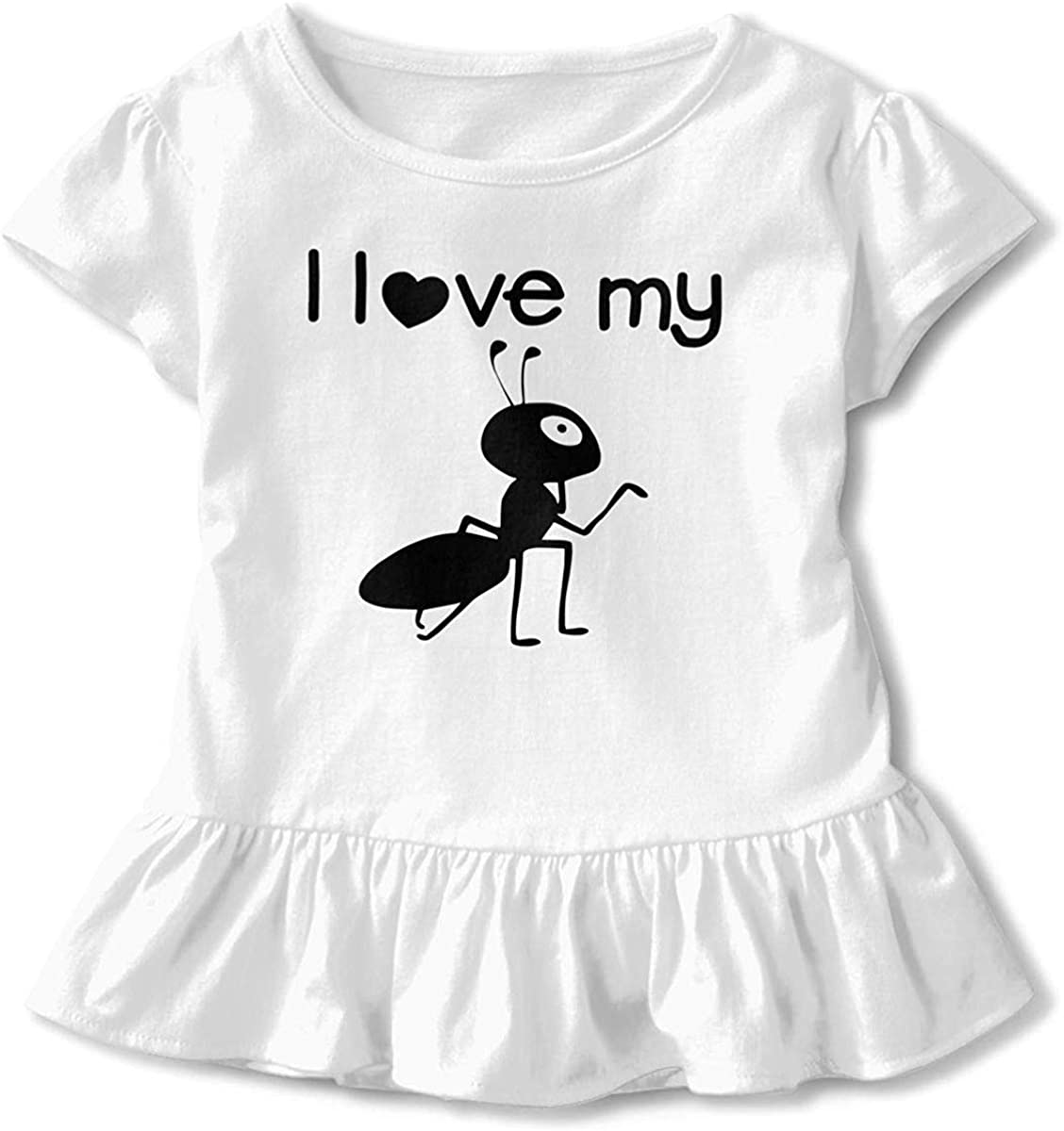 Toddler Baby Girl I Love My Aunt Funny Short Sleeve Cotton T Shirts Basic Tops Tee Clothes