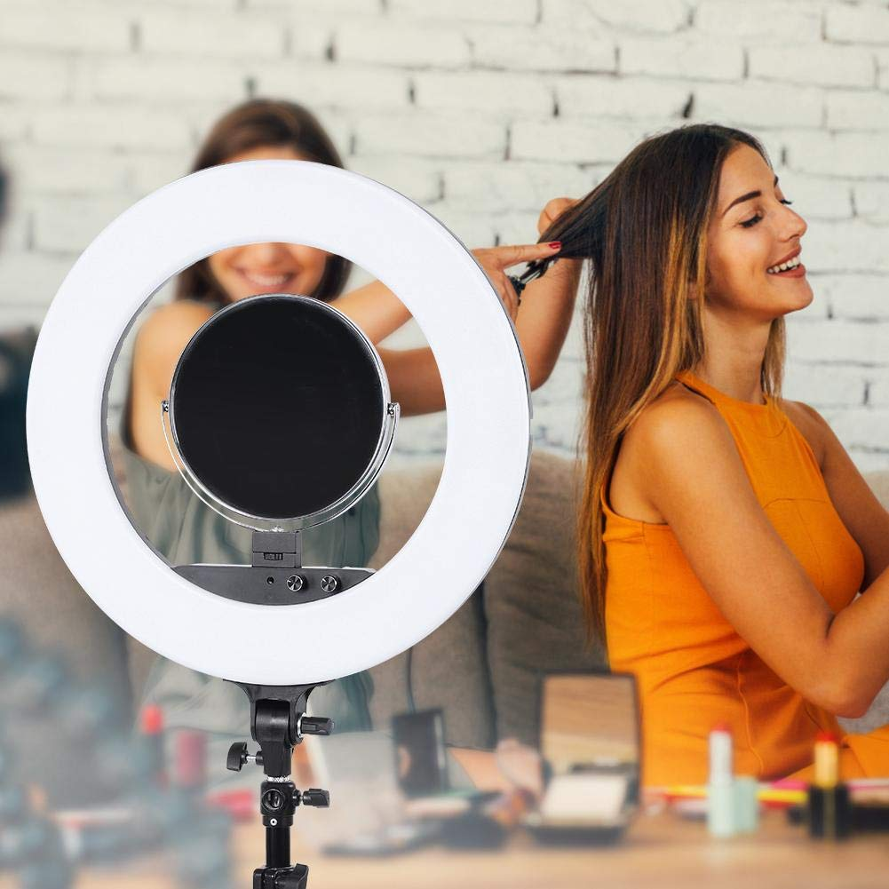 fosa Selfie Ring Light Mini 480LED Ring Shape Cell Pone Fill Light with Cell Phone Clip Portable Strap Carrying Bag Supplement Selfie Video Lamp for Live Stream Makeup LR-980A by fosa (Image #7)
