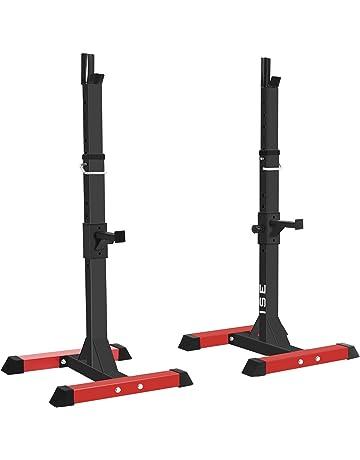 ISE Jaula de Squat Montaje de Squat Ajustable Squat Rack con Barras de Soporte sy-