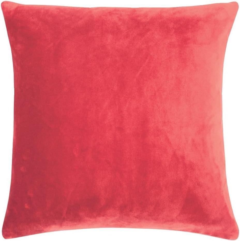 pad 50 x 50 cm Kissenbezug Kissenh/ülle Samt red//rot Smooth