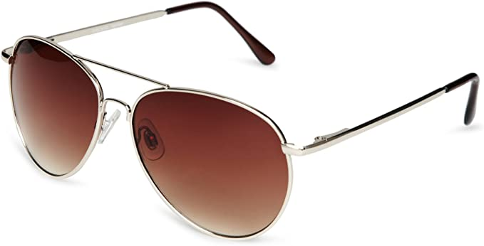Kid/'s Sunglasses Squadron Aviator Style Black or Brown Lens EyeLevel
