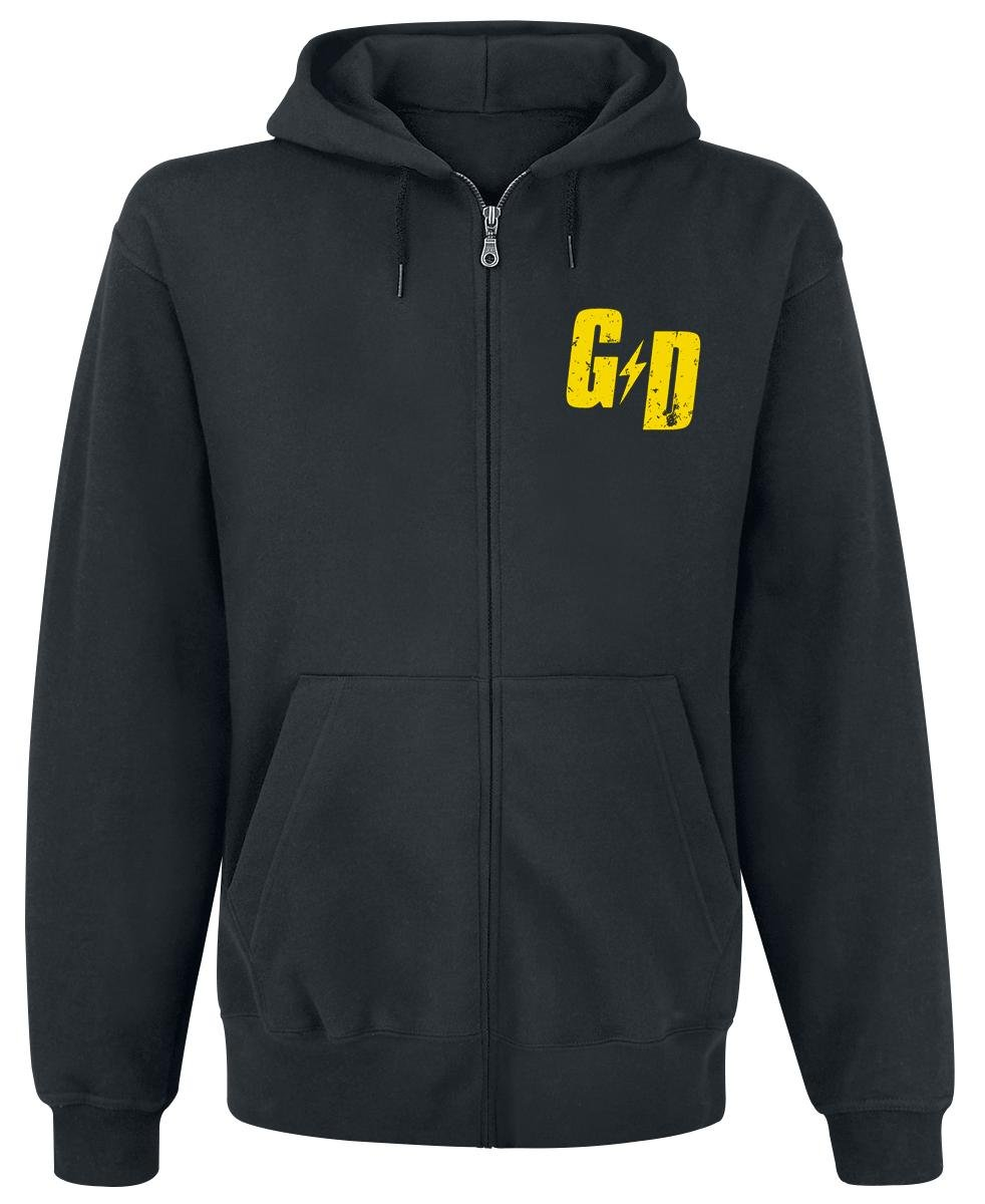Mens Official Green Day Checker Hoodie - Large, (Black)