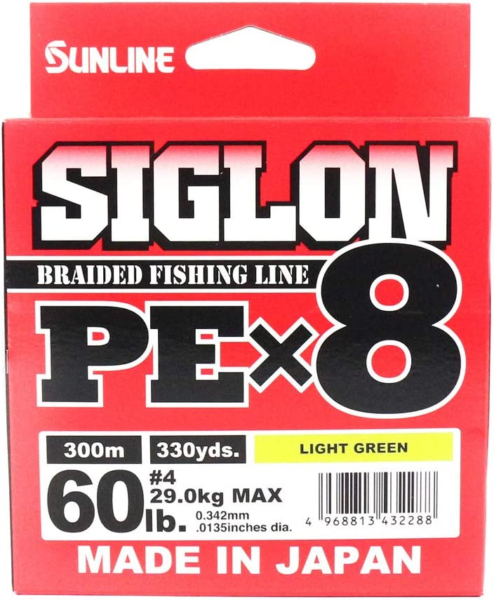 Sunline Trecciato siglon pex8 60LB 0.342 mm 29 kg Pesca Pescar ...
