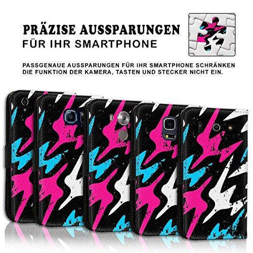 Wallet Book Style Flip Handy Tasche Case Schutz Hülle Schale Motiv Etui für Apple iPhone 4 / 4S - Design Flip MVD178