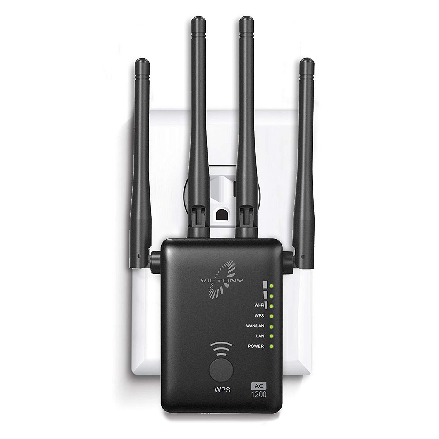 VICTONY WiFi Ranger Extender with High Gain Dual Band Antennas Wireless Network Extender 2.4GHz Speed up to 300Mbs WiFi Repeater , Supports Repeater/Access Point/Router Mode