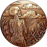 SkullCoins VIRGO - 2015 Memento Mori Zodiac Series 1 Oz Antique Finish COPPER Round - Low Mintage of Only 2000 Pieces