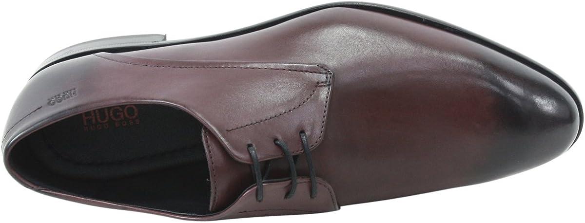 Hugo Boss Mens C-Dresios/_LTBU Dark Red Leather Oxfords Shoes