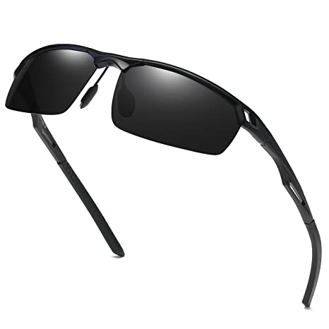 40b88c100db Duco Men s Sports Style Polarized Sunglasses Driver Glasses 8550 Black   Amazon.ca  Luggage   Bags