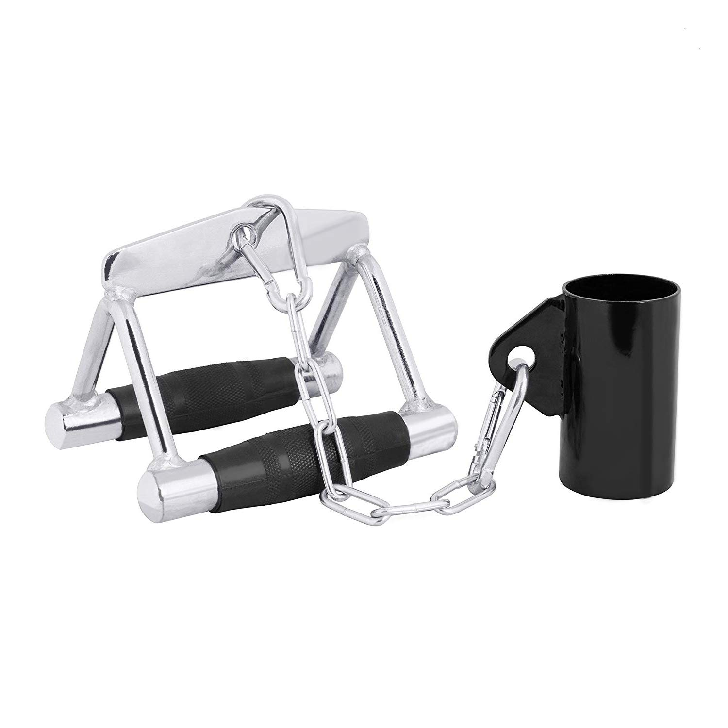 RIGERS Combo T-Bar Row Platform & Attachments | Multi-Choice: Single Eyelet Landmine Attachment with Chain and V Handle Accessory