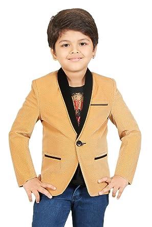 f3b4a4cf0 Kute Kids Boy's Wear Blazer (6-7 Years, Brown): Amazon.in: Clothing ...