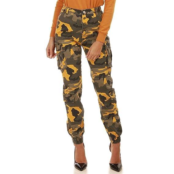 achat original Royaume-Uni Couleurs variées La Modeuse - Pantalon Taille Haute Style Treillis imprimé ...