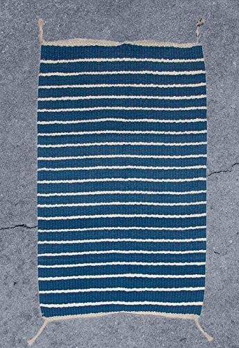 Handwoven Indigo Striped Rug - Indigo Traditional Rug