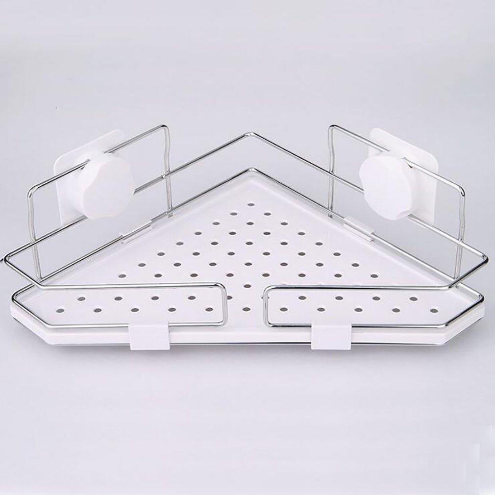 FeN Bathroom Triangular Rack,Wall Mount Storage Holder,Strong Suction Cups Hotel Shelves,Kitchen Wall Mount Spice Shelf