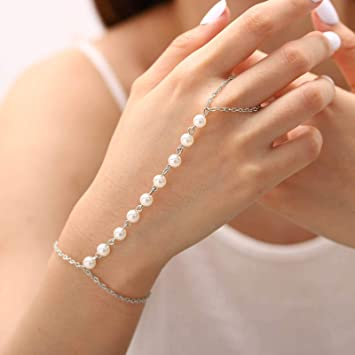 pearl ring and pearl bracelet