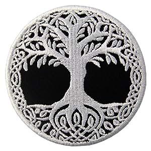 Parche termoadhesivo para la ropa, diseño de Yggdrasil el árbol de la vida en nórdico