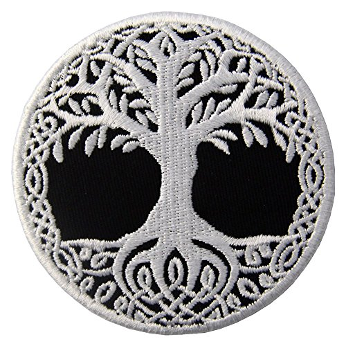 Yggdrasil the Tree of Life in Norse Patch Embroidered Badge Iron On Sew On Emblem ()