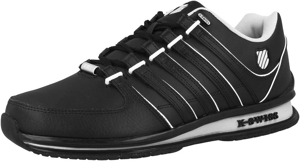 K-Swiss Rinzler SP - Zapatillas de Piel para Hombre Negro Schwarz (Black/Gull Gray/Bone 005) 46: Amazon.es: Zapatos y complementos