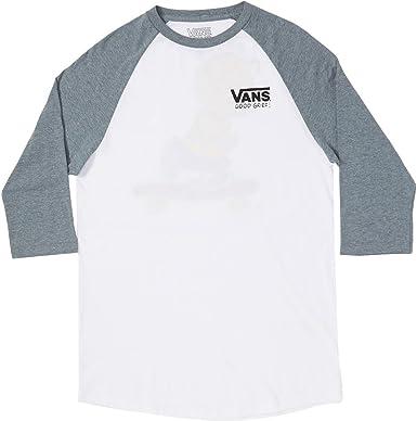 Vans VA36URG3Q, Camiseta de Manga 3/4 Para Hombre, Multicolor (White/Heather Grey), Large: Amazon.es: Ropa y accesorios
