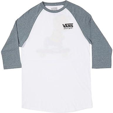 00186481c9 T-Shirt Men Vans Peanuts Raglan T-Shirt  Amazon.co.uk  Clothing