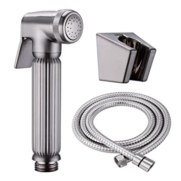 KES SOLID BRASS Toilet Handheld Bidet Sprayer with Hose and Bracket Holder Toilet  Attachment Cloth Diaper. KES SOLID BRASS Toilet Handheld Bidet Sprayer with Hose and