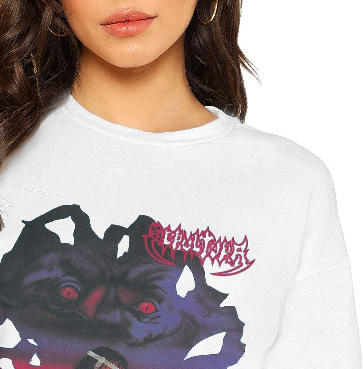 MonicaRDalton Sepultura Schizophrenia Woman Loose Short Sleeve Short Sleeve Leak Navel