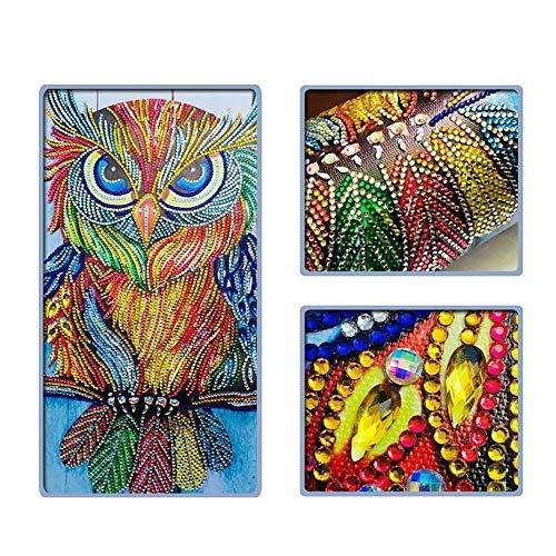 (Hotpaint Paint with Diamonds Animal Special Shape Diamond Painting Picture of Rhinestone Beadwork Owl Diamond Mosaic Sale Craft Kit Home Decor 40x30cm)
