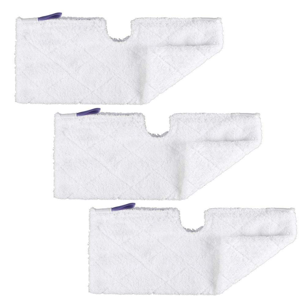 3pcs Euro-Pro Cleaning Mop Pads Replacement Double-Sided XL Microfiber Cleaning Pads for Shark Pocket Steam Mop XLT3501 (Extra Large)