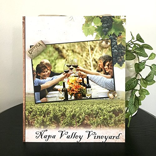 Napa Valley Vineyard - Magnetic Picture Frame Handmade Gift Present Home Decor by Frame A Memory Size 9 x 11 Holds 5 x 7 Photo - Wine Tasting Weekend Friend Reunion Getaway Vacation Napa Cellars Chardonnay