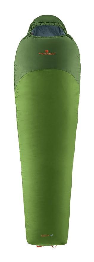 Ferrino SLEEPINGBAG Levity 02 Saco de Dormir Tiempo Libre Y Senderismo Unisex Adulto, Verde,