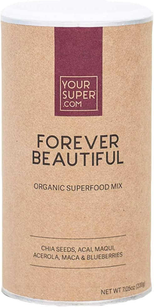Forever Beautiful Superfood Mix by Your Super Plant Based Anti-Aging Skin Health Produce Natural Collagen Powder Fruit Blend with Essential Vitamins Minerals Non-GMO, Organic Ingredients