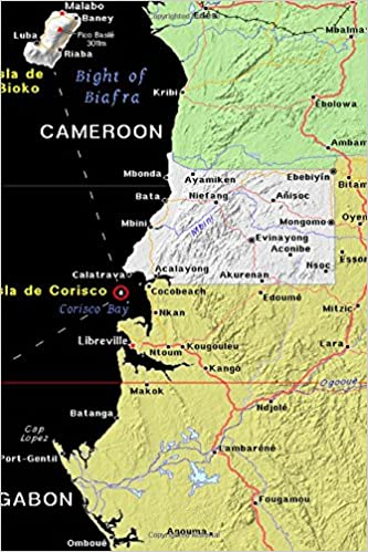 Modern Day Map of Equatorial Guinea in Africa Journal: Take