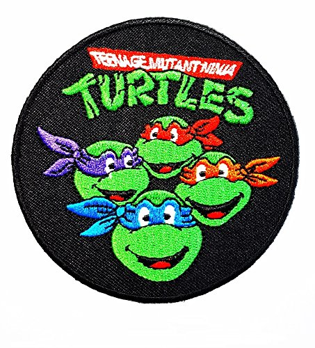 Teenage Mutant Ninja Turtles MICHELANGELO ORANGE MASK patch patch Costume Cartoon Logo DIY Embroidered Sew Iron on Patch Cap Jacket Hoodie Backpack Ideal for Gift /10.2cm(w) x 6.5cm(h) - Squirtle Costume Diy