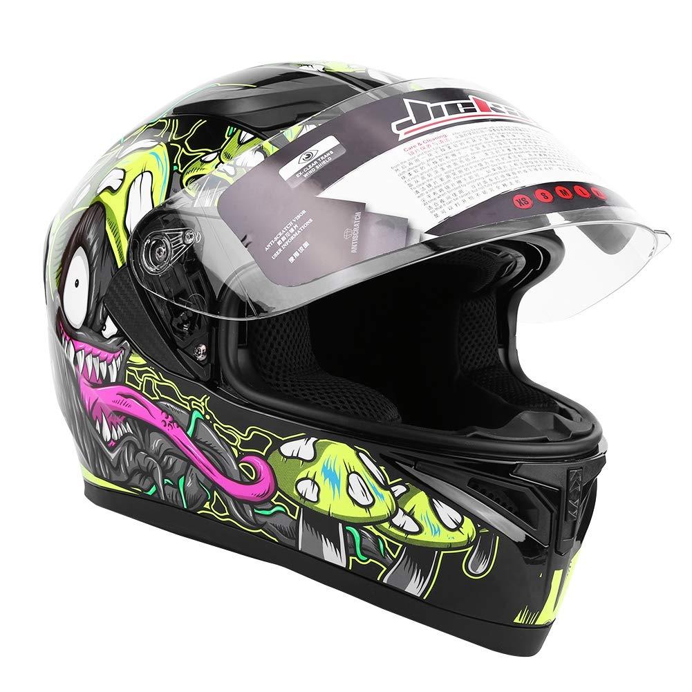 casco integrale per moto da strada con doppia visiera universale a doppia visiera che migliora lequipaggiamento protettivo di sicurezza Qii lu Casco moto per motocicletta M