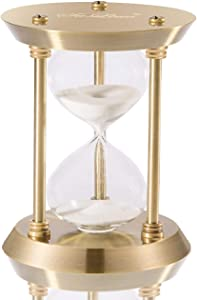 SuLiao Hourglass Timer Sand Clock 30 Minutes & Brass Metal Hour Glass for Decor Sandglass Timer