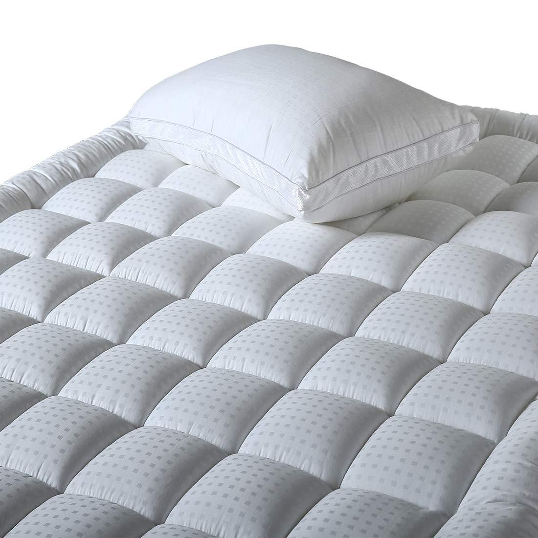Balichun Mattress Pad Cover Queen Size Pillowtop 300TC Down Alternative Mattress Topper with 8-21-Inch Deep Pocket