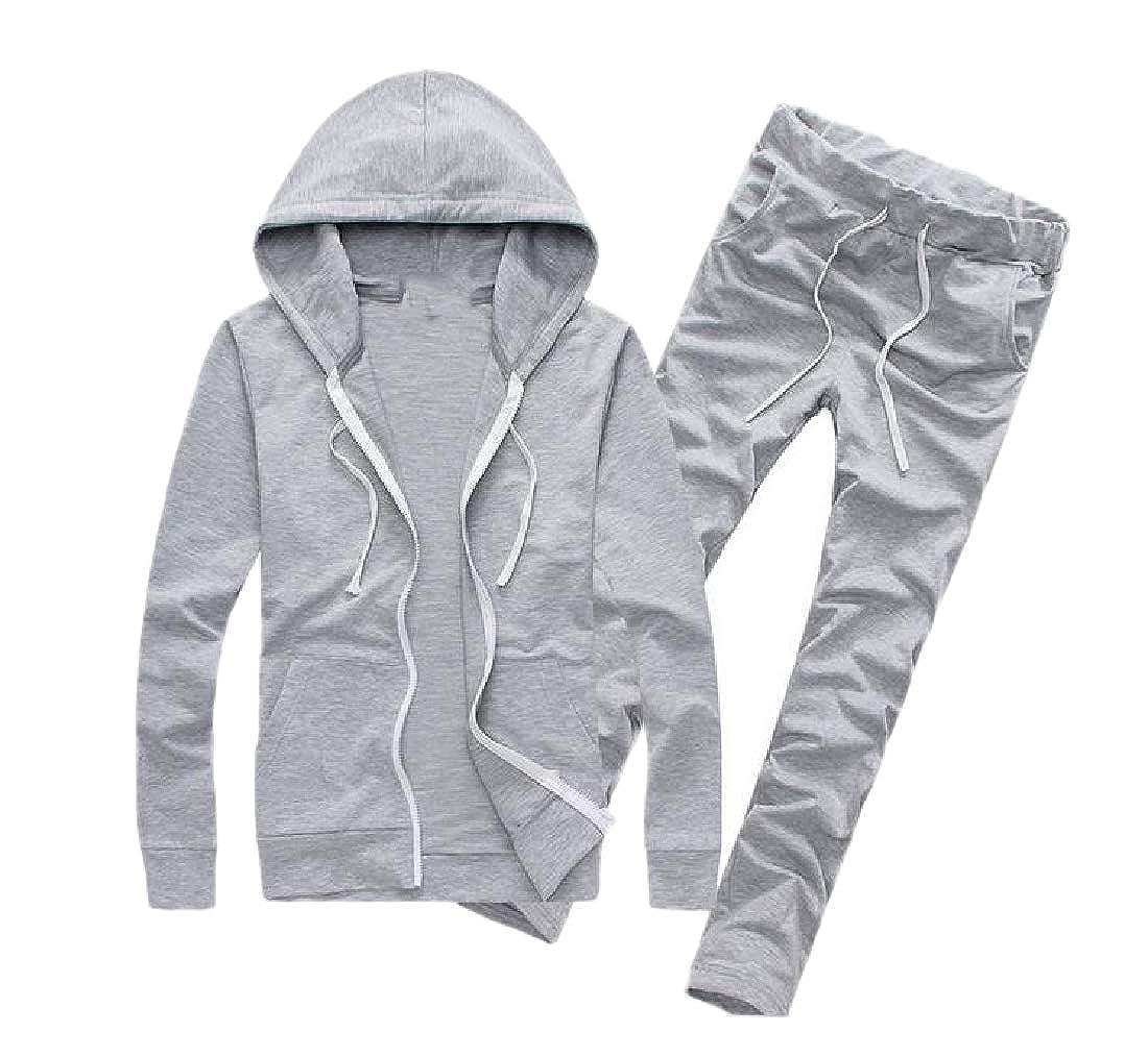 Andopa Hoode cordón corte atlético-Fit chándal traje para Hombres ...