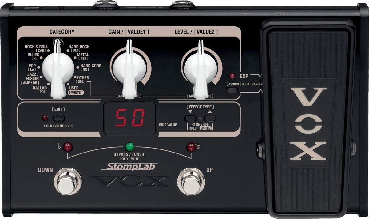 Vox STOMPLAB2G - Pedal multiefecto para guitarra (batería alcalina ...
