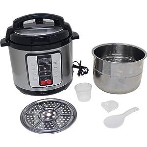Precise HeatPrecise Heat 6.3Qt. Electric Pressure Cooker &ndas6.3QT ELECTRIC PRESSURE COOKER