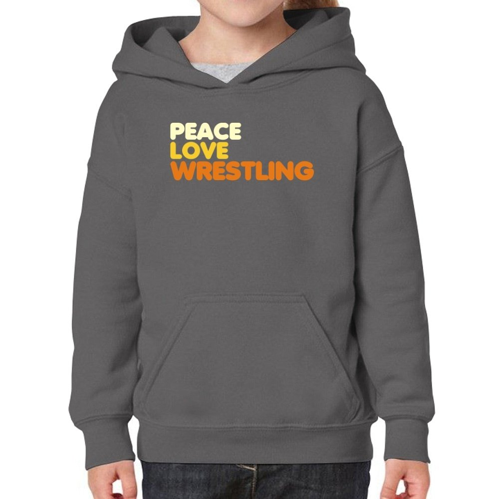 Teeburon Peace, Love and Wrestling Girl Hoodie by Teeburon