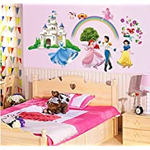 """ufengke® """"Princess Castle"""" Princess and Prince Wall Decals, Children's Room Nursery Removable Wall Stickers Murals"""