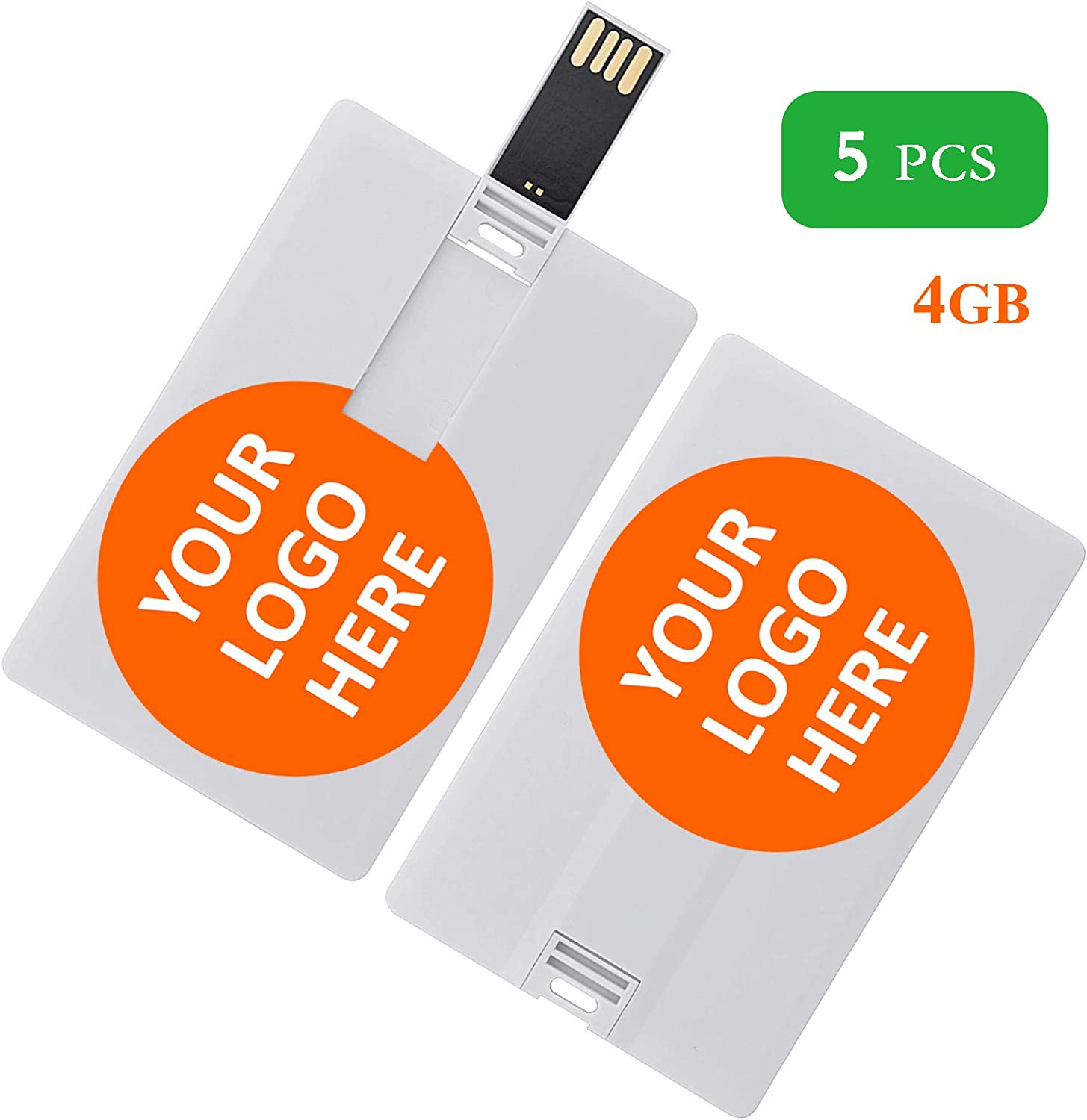 8G /& 10 PCS Custom Personal Company Logo//Photo//Text Gifts 8GB Credit Card Style USB Flash Drive Personalized Pendrive Memory Stick
