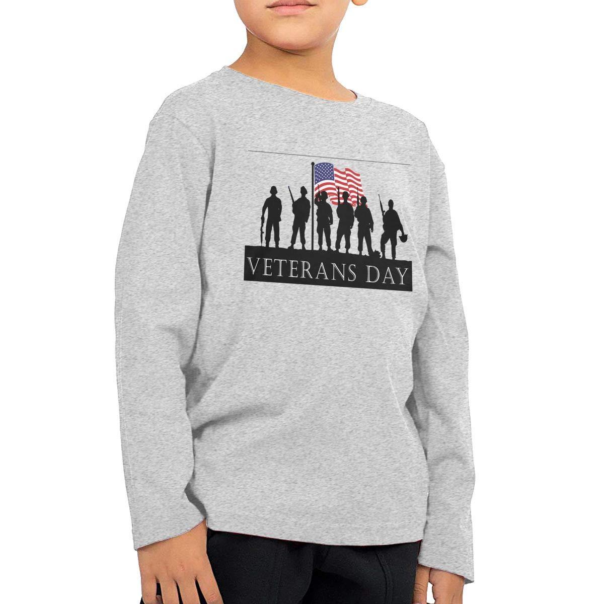 UGFGF-S1 Veterans-Day Fashion Toddler Children Baby Boys Girls Long Sleeve T-Shirt Top/&Tee