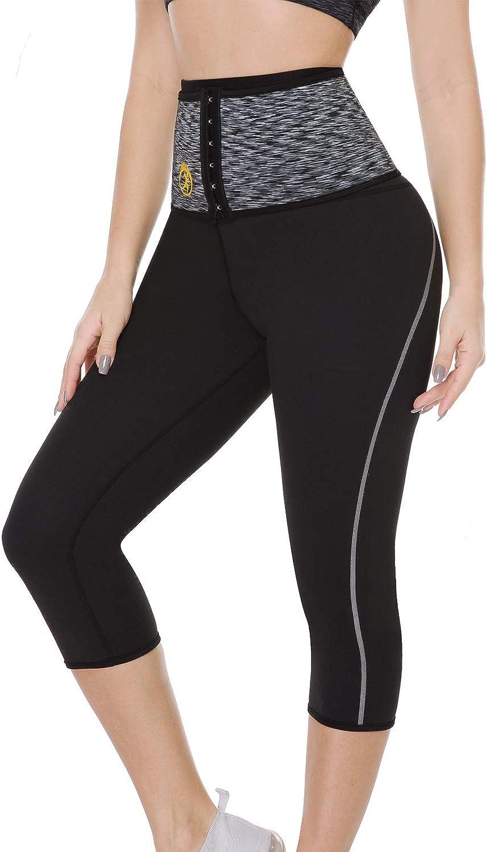 S Slim Body Shaper Workout Leggings for Weight Loss Sport Tights Leggings for Women MZSM Women Sauna Sweat Pants