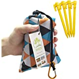 "HZJOYUE Outdoor Blanket (71"" x 55"") -Compact, Lightweight, Sand Proof Pocket Blanket Best Mat for The Beach, Hiking…"